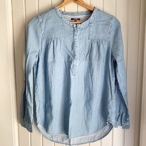 NYDJ Chambray Popover Top